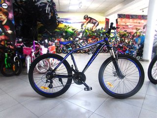 Mountain bicycle Benetti Special Vero DD, wheels 26, frame 17, 2018, black n blue