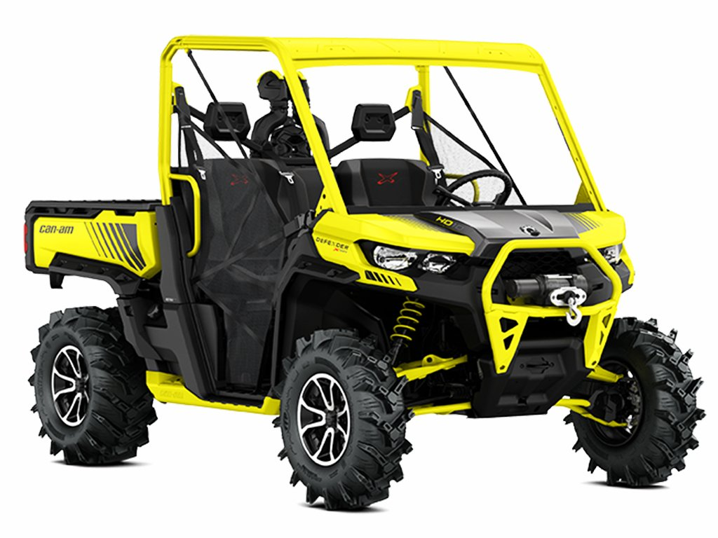 Мотовездеход BRP Can-Am Traxter HD10 XMR Carbon Black-Yellow INT 2019